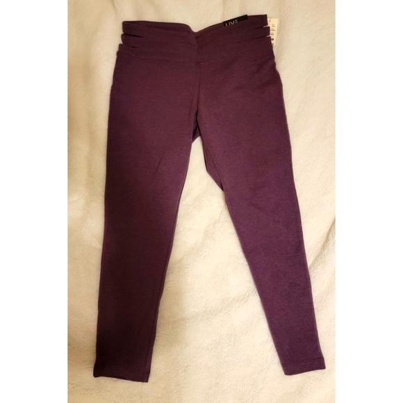 Aeropostale purple Cutout Cropped Leggings